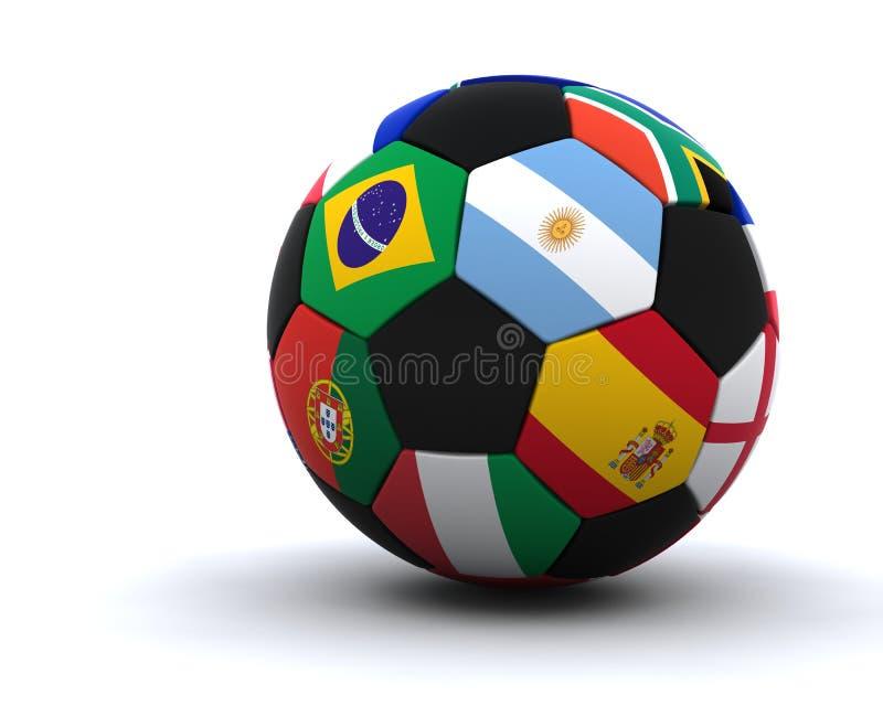 Gioco del calcio 2010 della tazza di mondo royalty illustrazione gratis