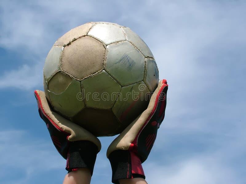 Gioco del calcio - attendendo per giocare fotografia stock