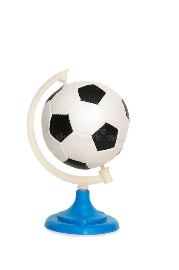 Gioco del calcio in bianco e nero immagine stock