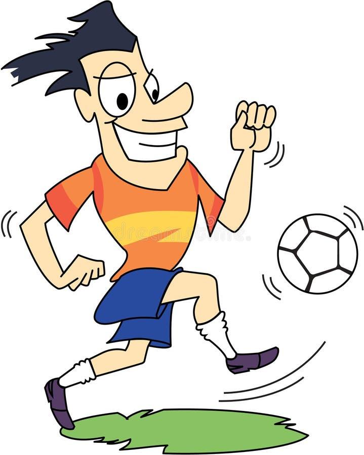 Gioco del calcio/calciatore con l'espressione felice immagini stock