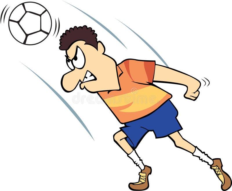 Gioco del calcio/calciatore con l'espressione pazza fotografie stock