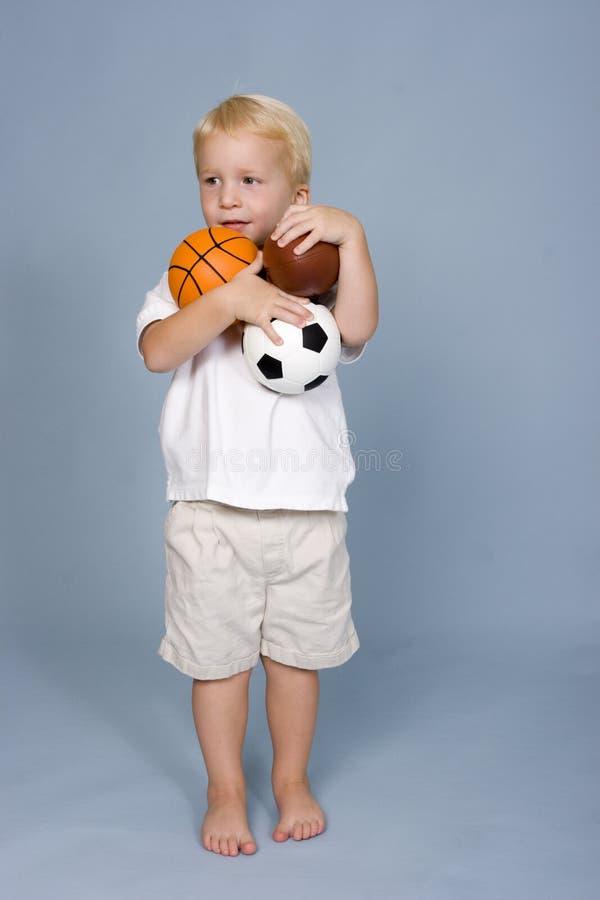 Gioco del calcio, calcio, pallacanestro immagine stock libera da diritti