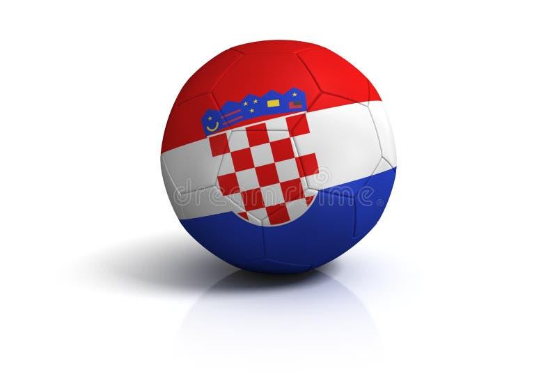 Gioco del calcio Croatia royalty illustrazione gratis