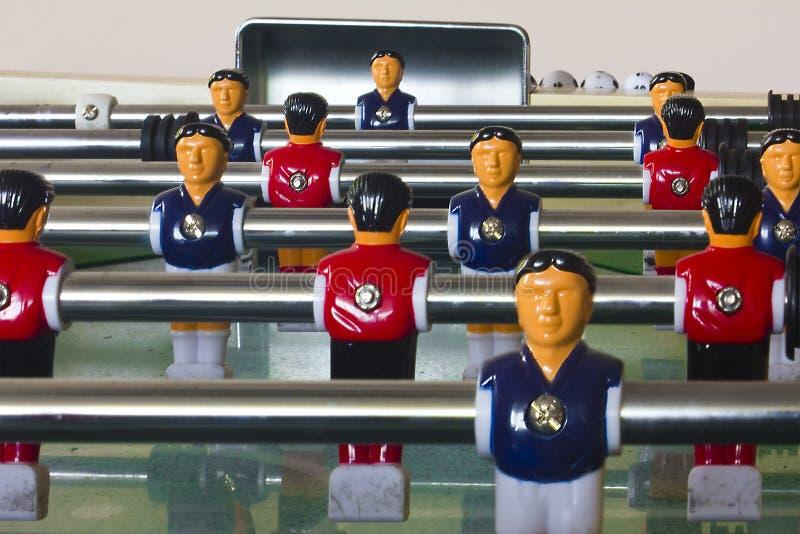 Gioco del calcio della Tabella fotografie stock