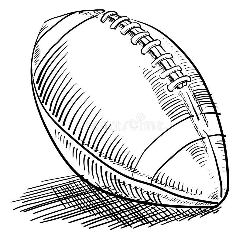Gioco del calcio di stile di Doodle illustrazione di stock