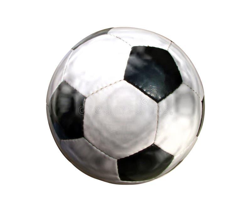 Gioco del calcio isolato su bianco fotografia stock