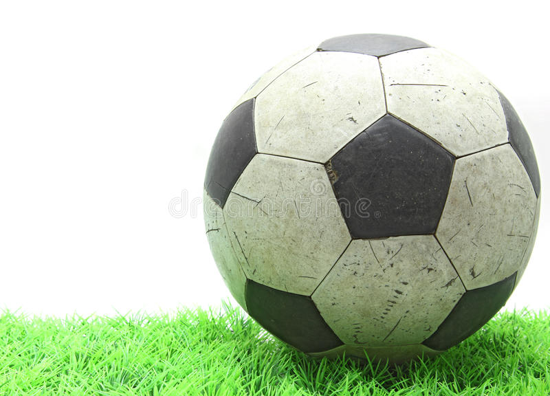 Gioco del calcio su erba fotografia stock libera da diritti