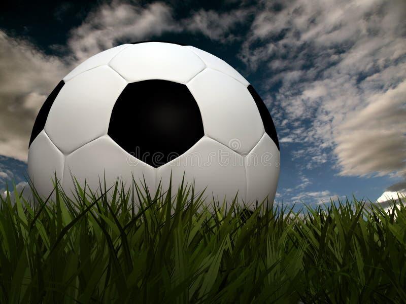 Gioco del calcio su erba royalty illustrazione gratis