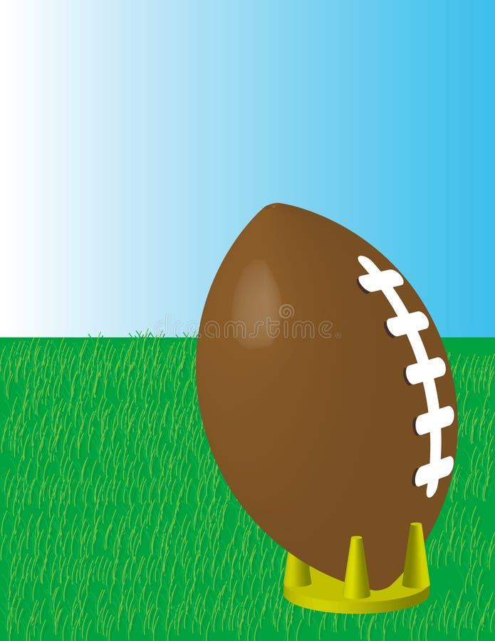 Gioco del calcio sul T. illustrazione vettoriale