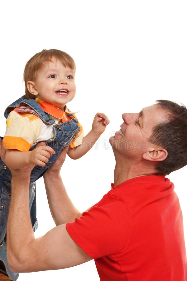 Gioco del figlio e del padre fotografia stock libera da diritti