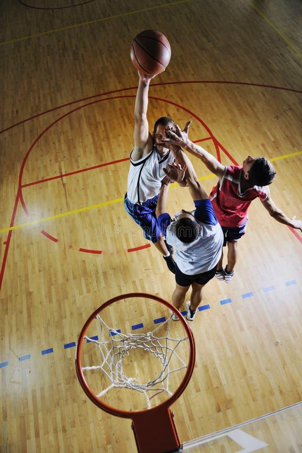 Gioco del gioco di pallacanestro fotografia stock