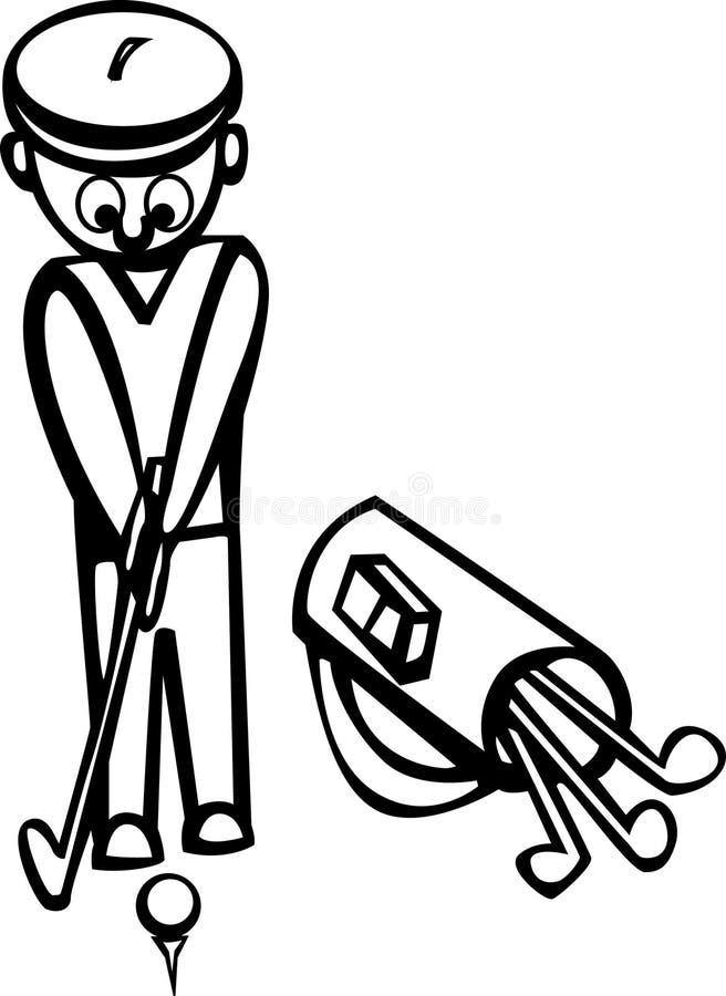 Gioco del golf illustrazione vettoriale