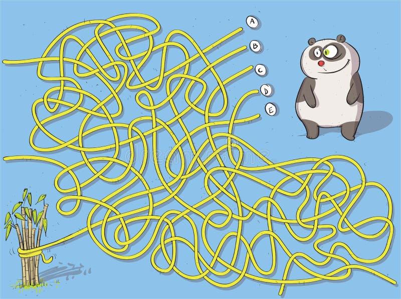 Gioco del labirinto del panda illustrazione di stock