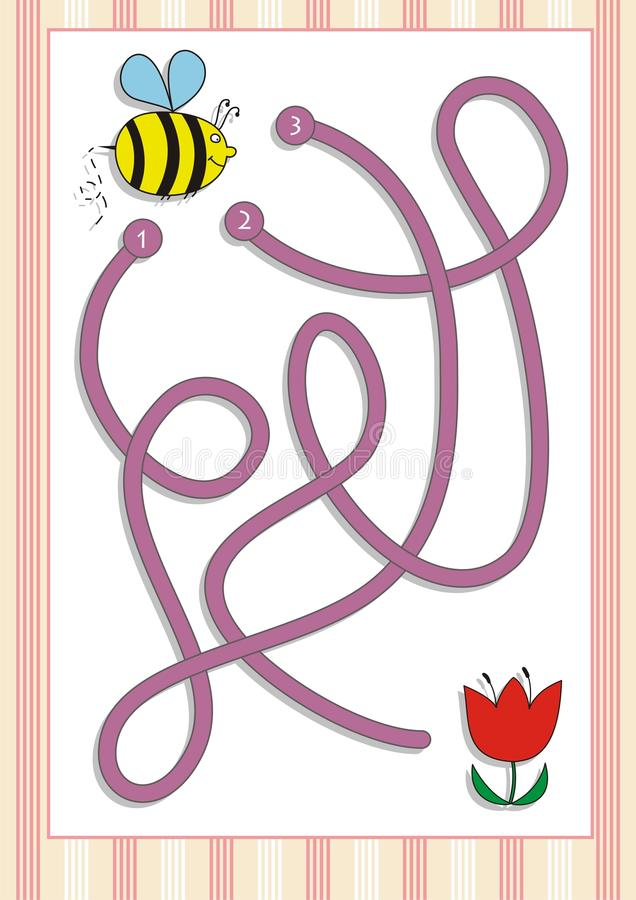 Gioco del labirinto o del labirinto per i bambini in età prescolare (4) immagini stock