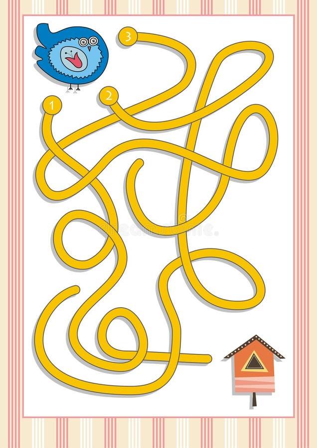 Gioco del labirinto o del labirinto per i bambini in età prescolare (5) immagine stock