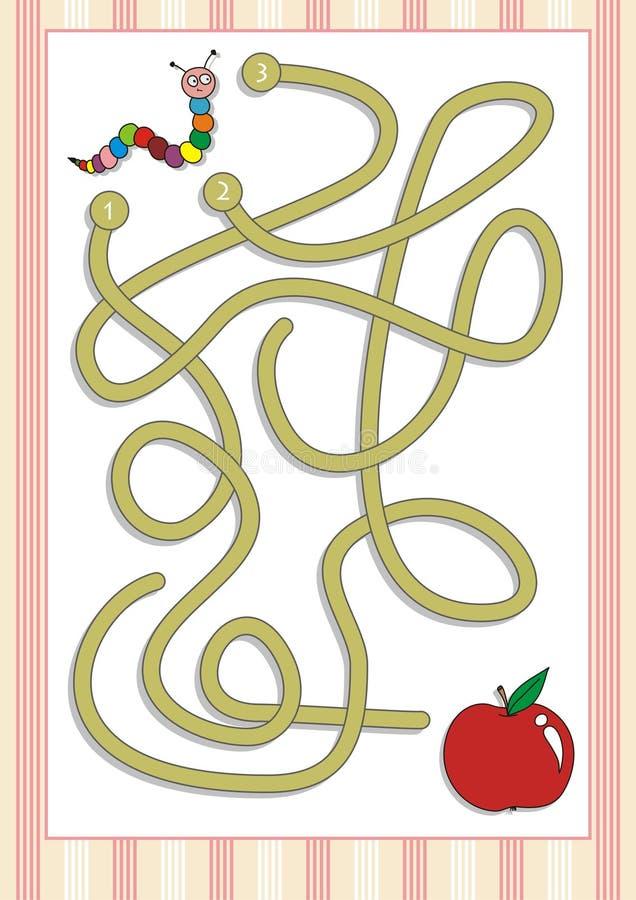 Gioco del labirinto o del labirinto per i bambini in età prescolare (6) illustrazione di stock