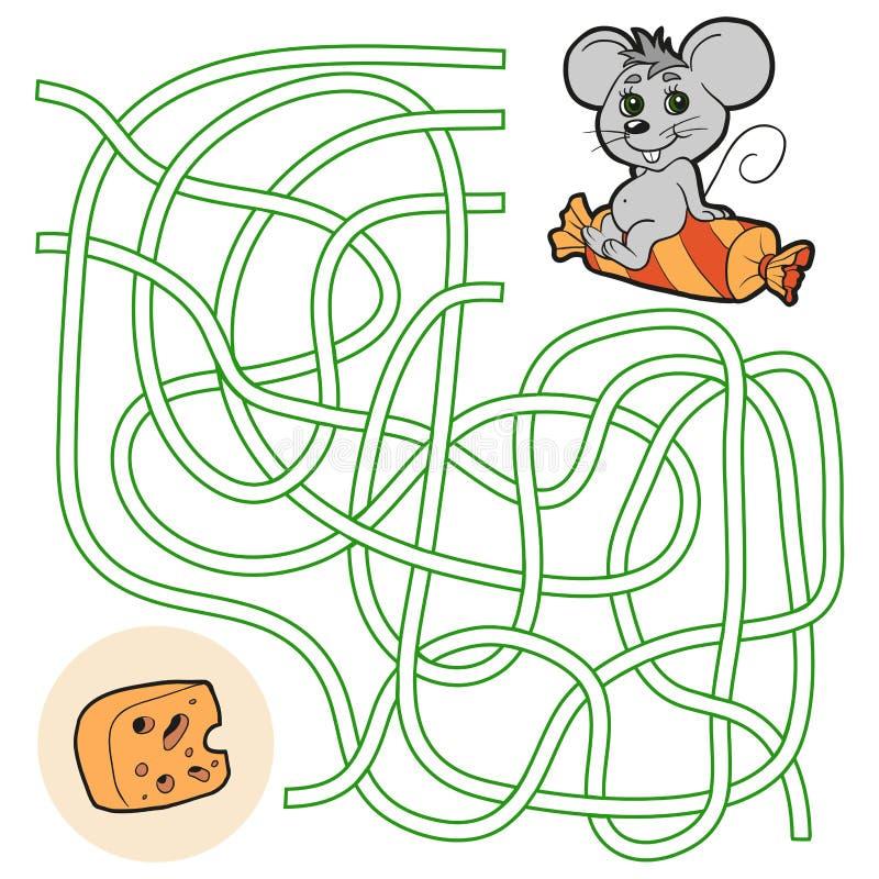 Gioco del labirinto per i bambini (topo) royalty illustrazione gratis