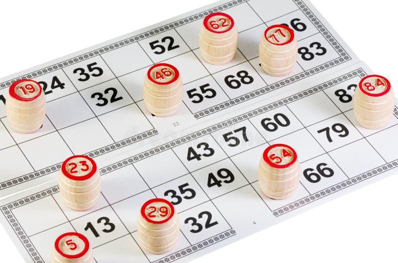 Gioco del Lotto fotografia stock libera da diritti