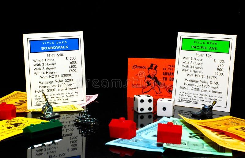Gioco del monopolio immagine stock