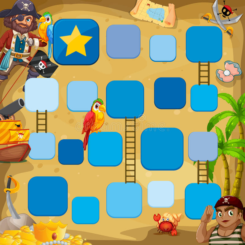 Gioco del pirata royalty illustrazione gratis
