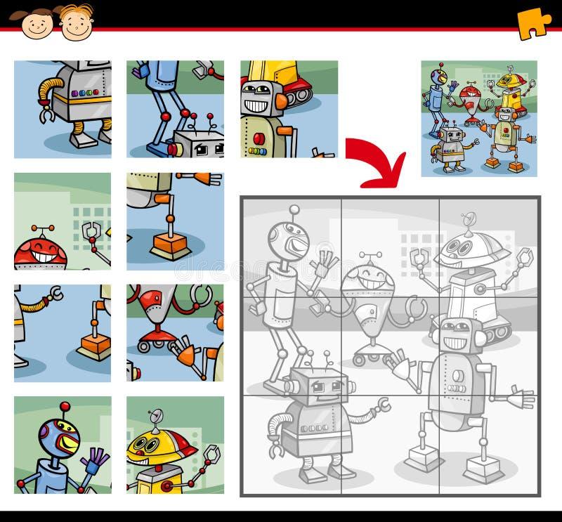 Gioco del puzzle dei robot royalty illustrazione gratis