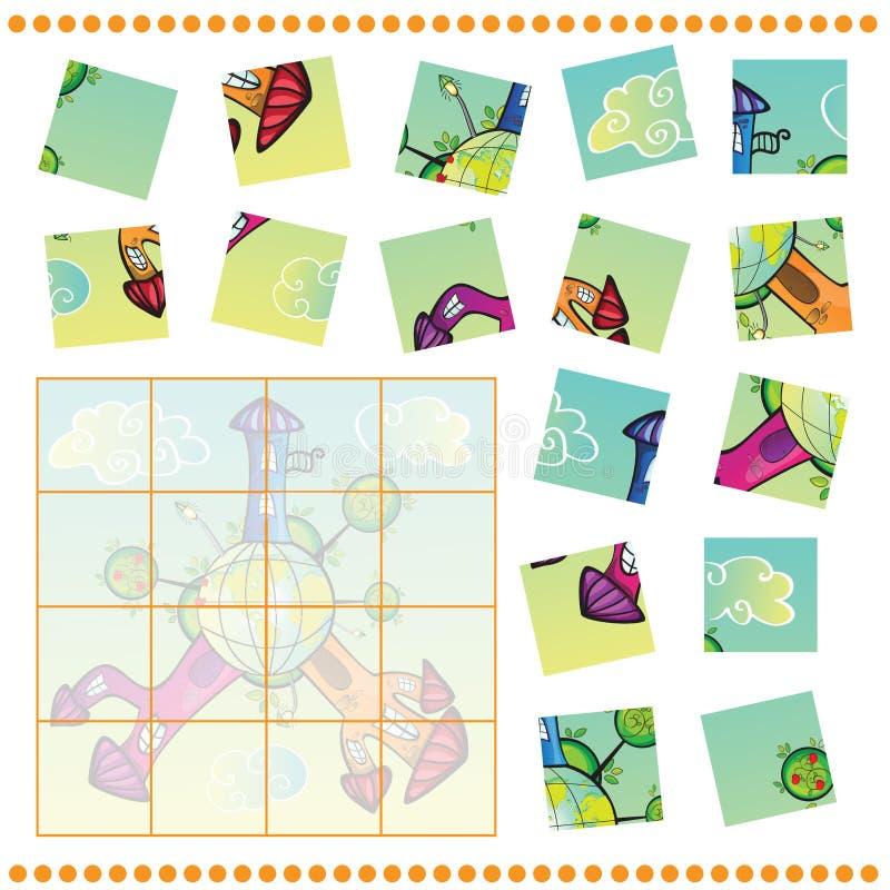 Gioco del puzzle per i bambini illustrazione vettoriale