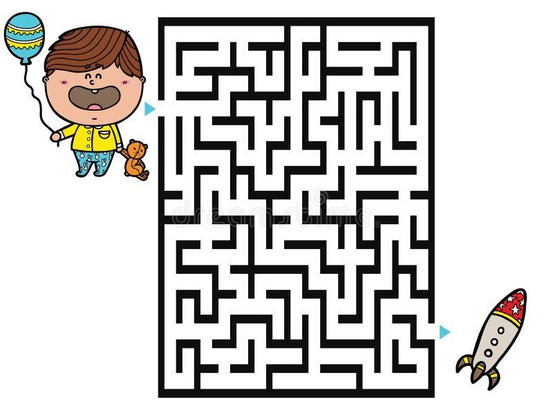 Gioco del ragazzo illustrazione vettoriale