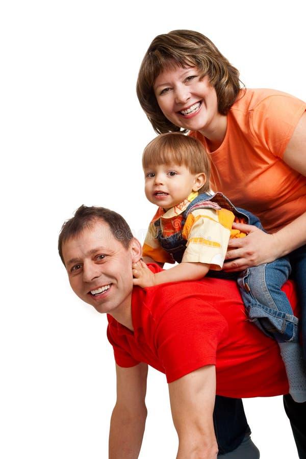 Gioco del ritratto della famiglia fotografie stock