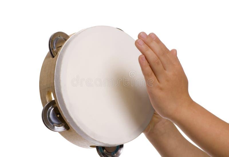 Gioco del tambourine fotografie stock libere da diritti