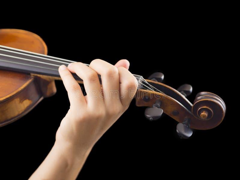 Gioco del violino immagini stock libere da diritti