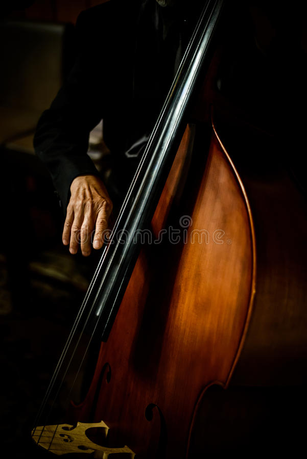 Gioco del violoncellista dello strumento musicale del violoncello fotografia stock libera da diritti