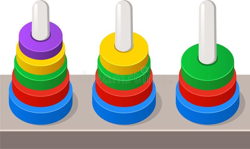 Gioco dell'anello del bambino illustrazione vettoriale
