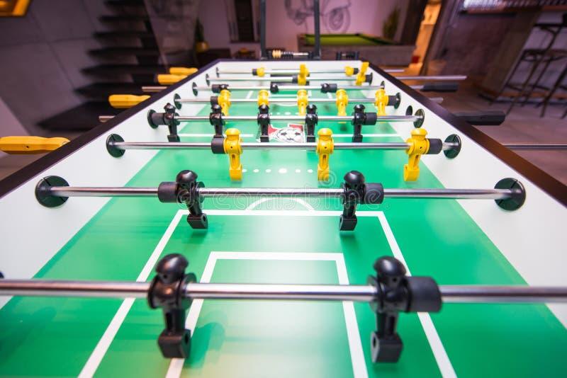 Gioco dell'estrattore a scatto di calcio o di calcio della Tabella immagini stock libere da diritti