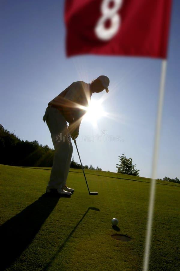 gioco dell'uomo di golf immagine stock