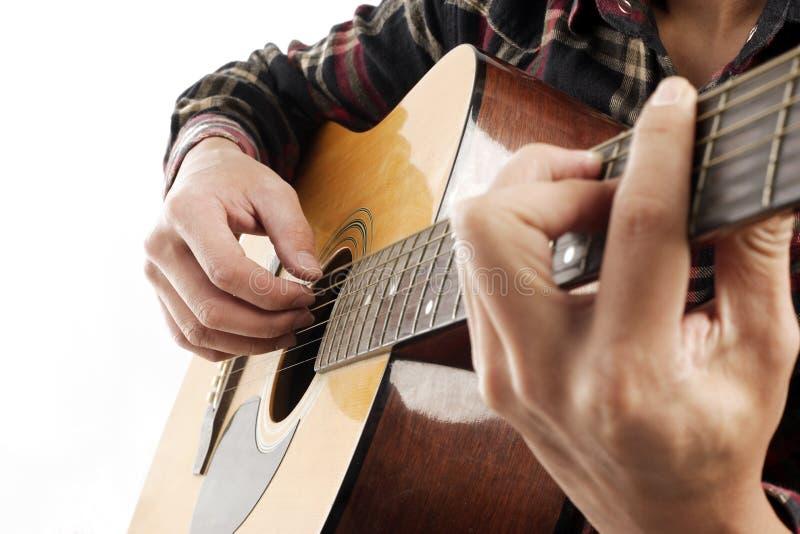 Gioco della chitarra fotografie stock