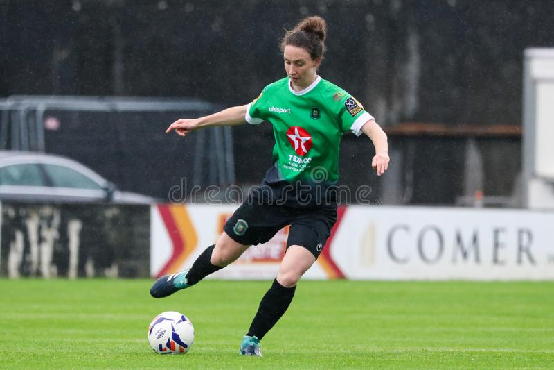 Gioco della lega nazionale delle donne: Galway WFC contro Peamount si è unito fotografia stock libera da diritti