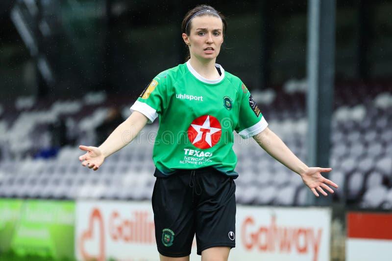 Gioco della lega nazionale delle donne: Galway WFC contro Peamount si è unito fotografie stock libere da diritti