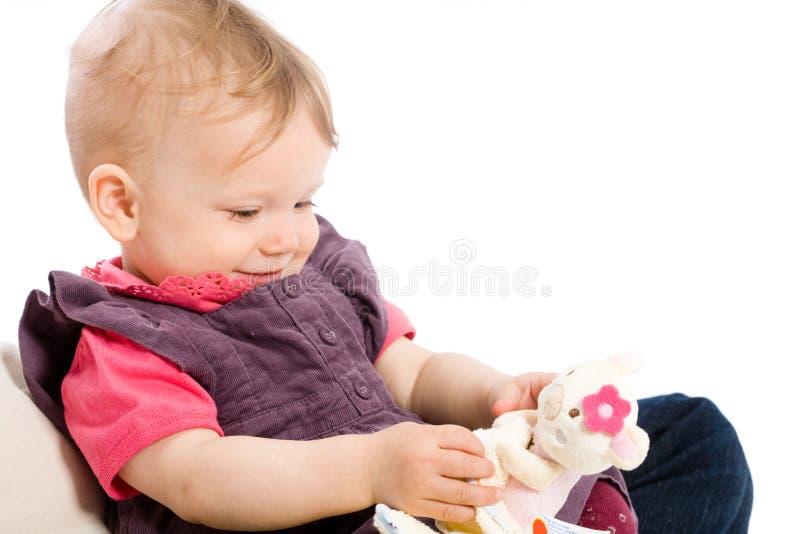 Gioco della neonata fotografia stock libera da diritti