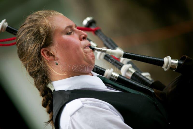 Gioco delle cornamuse. fotografie stock