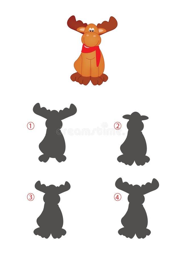 Gioco delle ombre, renna royalty illustrazione gratis