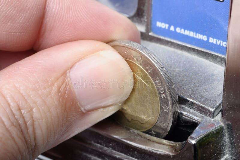 Gioco delle slot machine immagini stock