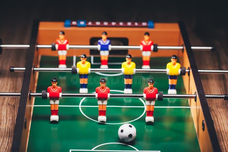 Gioco di calcio di calcio-balilla & x28; kicker& x29; fotografie stock libere da diritti