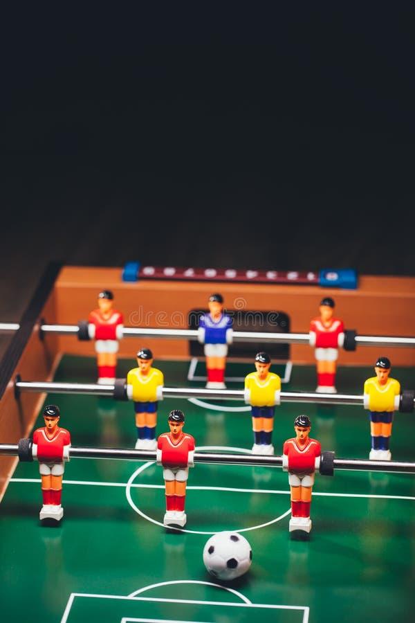 Gioco di calcio di calcio-balilla & x28; kicker& x29; fotografia stock libera da diritti