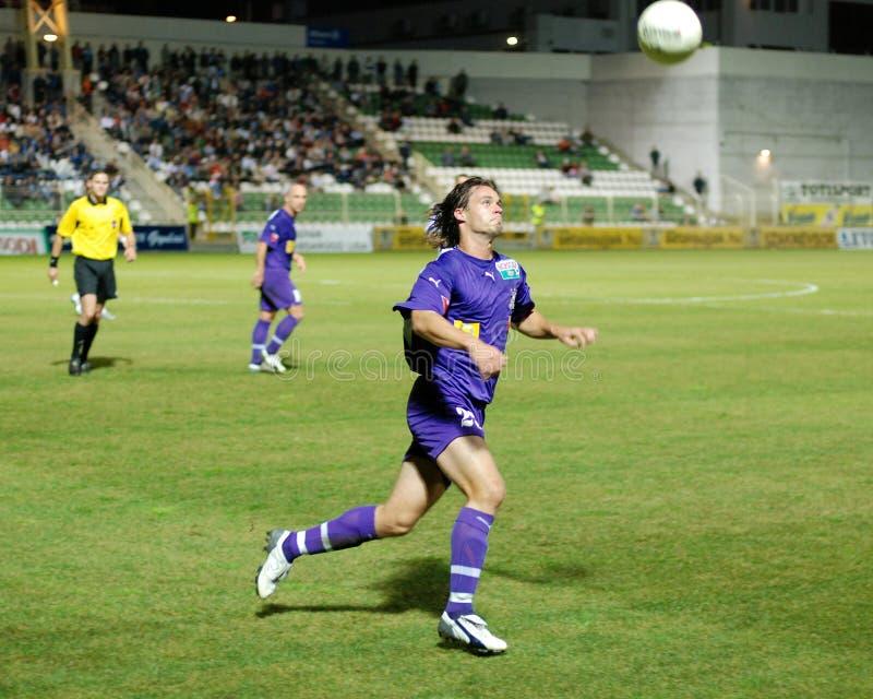 Gioco di calcio di Ujpest - di Kaposvar immagini stock libere da diritti