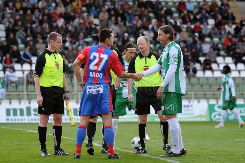 Gioco di calcio di Vasas - di Kaposvar fotografie stock