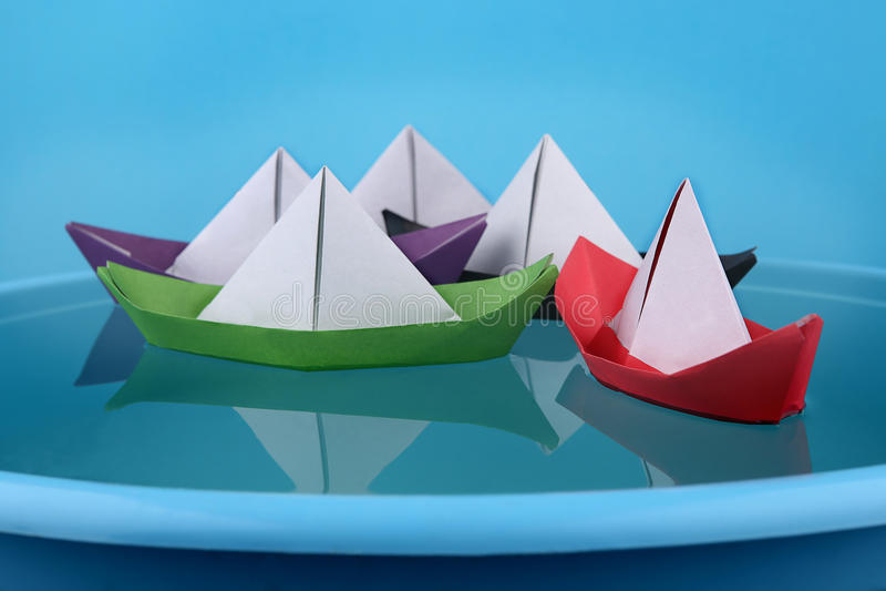Gioco di carta delle barche fotografia stock