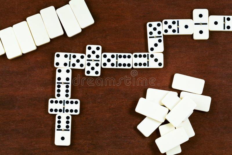 Gioco di domino fotografie stock