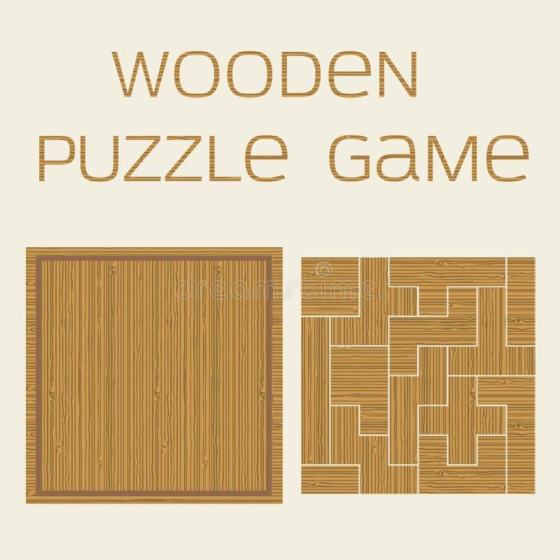 Gioco di legno di puzzle con l'iscrizione fotografia stock libera da diritti