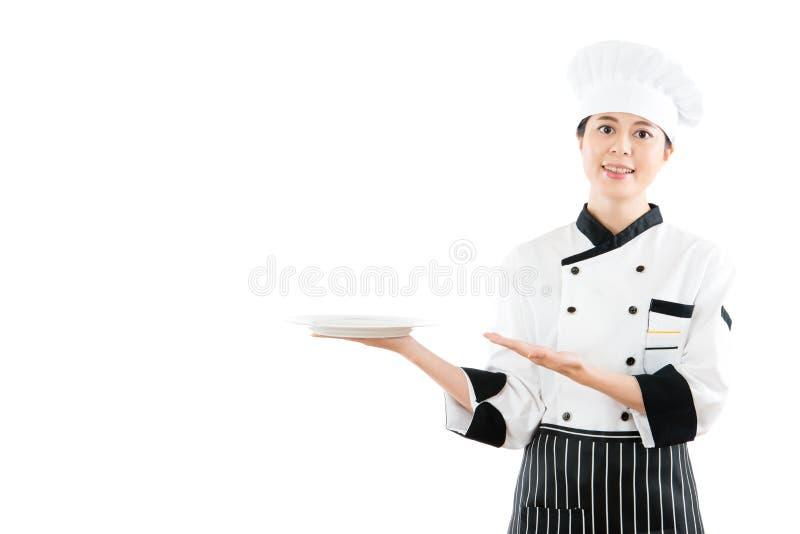 Gioco di modello asiatico multiculturale come cuoco o cuoco unico fotografie stock