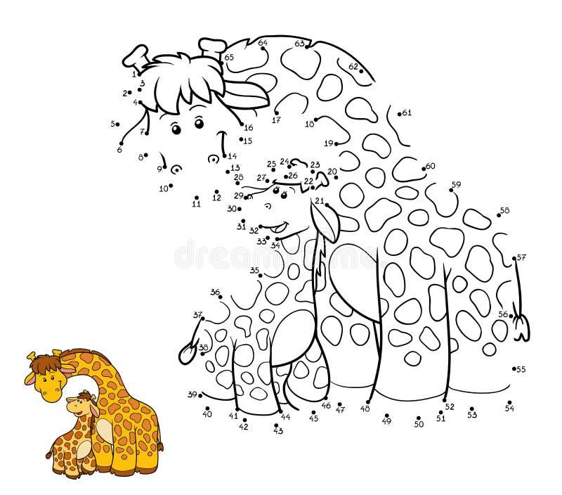 Gioco di numeri (due giraffe) royalty illustrazione gratis